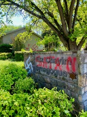 Huntsville, Alabama, synagogue Etz Chayim was vandalized on April 8, 2020, during Passover Week.