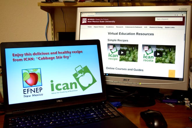 How-to videos of simple recipes with fresh vegetables, online courses and guides, and videos for parents to use with their young children are available on the Ideas for Cooking and Nutrition website, ican.nmsu.edu.