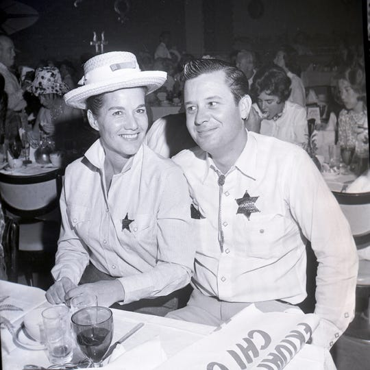 Milt and Rita Jones at the Chi Chi for a Desert Circus event.