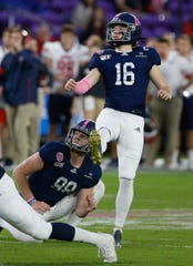Sixth-round draft pick Tyler Bass could become the Bills' kickoff specialist.