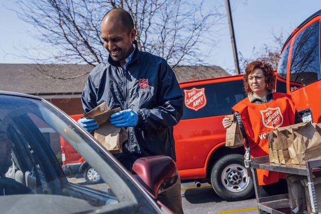 Salvation Army is offerings drive-through food pickup, community-based food delivery through canteens, and meals at Salvation Army facilities.