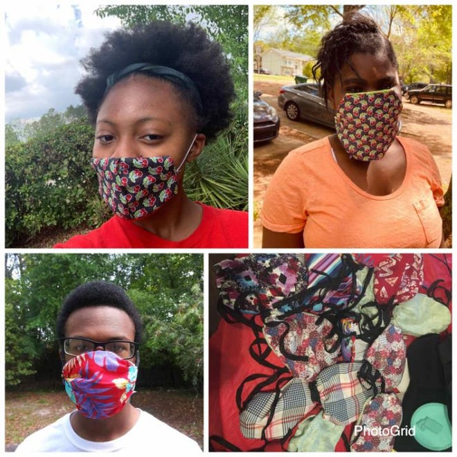 Havana 4H Club joined forces with The Gadsden County Retired Teachers Association to make masks for Riverchase Health and Rehabilitation Center