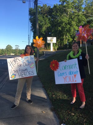 Covenant employees spread positive vibes. In addition to getting creative by decorating nursing home windows for patients, Covenant would like to share words of encouragement.