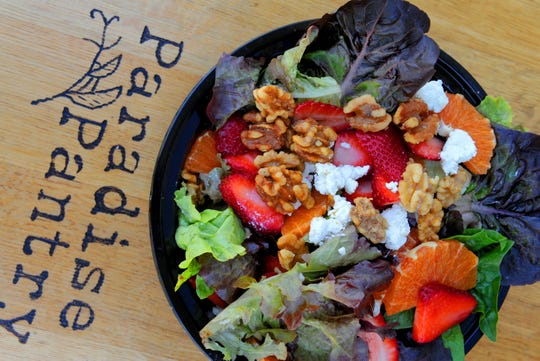 A Purple Haze Salad is seen at Paradise Pantry in downtown Ventura.