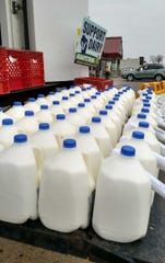 The Waupun FFA and FFA Alumni, with the help of a local anonymousdonor, gave away 1,200 gallons of milk in the Waupun Area School District on April 24.
