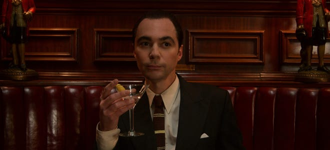 Jim Parsons plays a corrupt talent agent, a far cry from Sheldon Cooper of 'The Big Bang Theory,' in Netflix's 'Hollywood.'