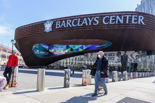 The Barclays Center in Brooklyn has been shuttered since mid March.