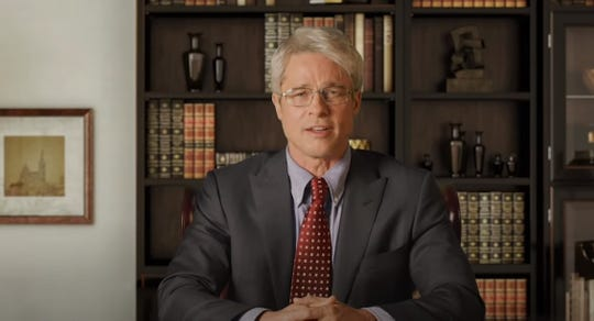 """Actor Brad Pitt portrays Dr.Anthony Fauci during a """"Saturday Night Live"""" sketch."""