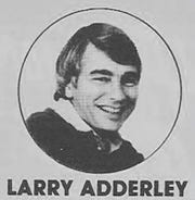 Larry Adderley as a young journalist.