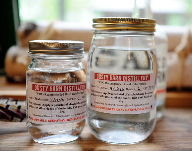 Dusty Barn Distillery near Mount Vernon is now producing a powerful hand sanitizing rub.