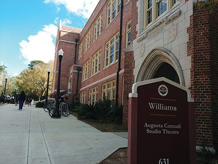 If you chose to major in English, most of your classes will be in the Williams building which is also home to the Augusta Conradi Studio Theatre.