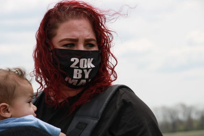 Brittany Whiting, whose fiance is imprisoned at the Belmont Correctional Institution, is worried that prison will end up like Marion Correctional Institution, where over 80% of the prisoners are infected with the novel coronavirus.