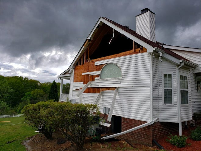 An EF-1 tornado in Wilson County left damage and three injuries in its wake on Saturday.
