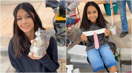 Taylor (left) and Carah Vau, participants in the Cruces Kids Can Jr. Vendor Program, sell their creations at the Farmers & Crafts Market of Las Cruces.