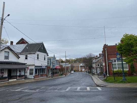 A view of a rainy day in Highland as seen on Sunday, April 26, 2020.
