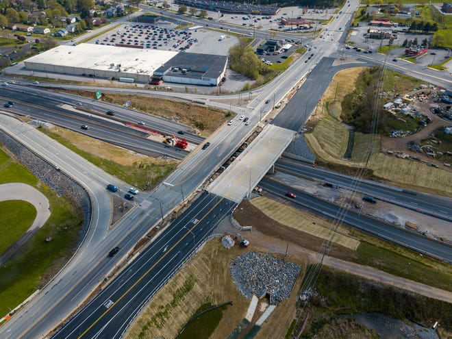 Construction continues at the Mount Rose Avenue, Interstate 83 junction after Governor Wolf allowed certain road project to resume work following the COVID-19 shutdown. Saturday, April 25, 2020.John A. Pavoncello photo