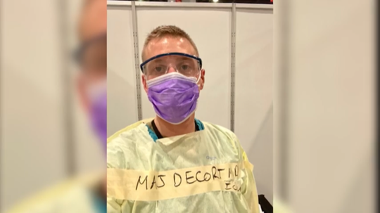WellSpan physician Dr. Ryan DeCort was on the front lines in New York City with the U.S. Army, treating patients at the Javits Center.