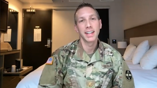 WellSpan physician Dr. Ryan DeCort talks about his experience on the front lines at the Javits Center in New York City, where he was deployed with the U.S. Army Reserves.