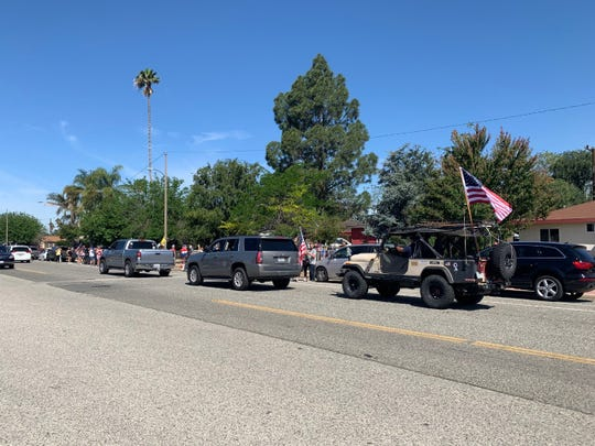 A drive-by memorial parade in Simi Valley Sunday morning honored fallen Marine Corps Gunnery Sgt. Diego Pongo amid coronavirus restrictions. Pongo, who grew up in Simi Valley, was killed in Iraq last month during a mission against an Islamic State group stronghold, military authorities reported.