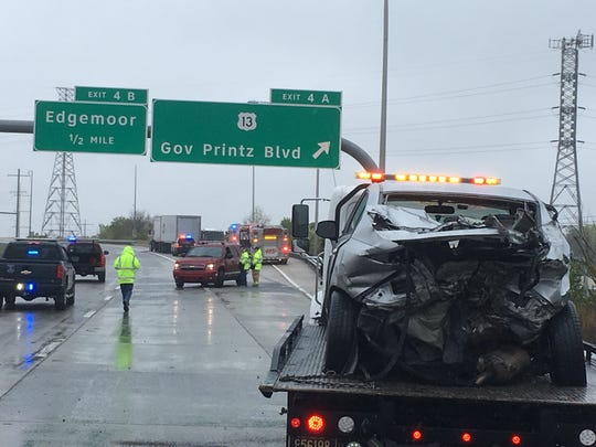 Two lanes of traffic on I-495 south are closed Sunday afternoon due to a crash.