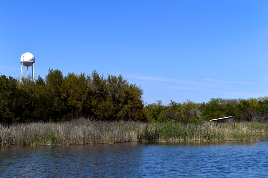 A pond at Abilene State Park.