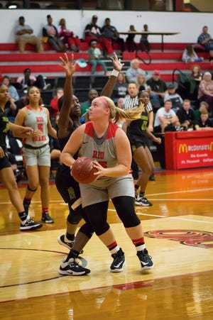 Courtney Pifher featured in 29 games for the Red Storm this season.