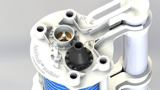 The top of the AeroBreath ventilator