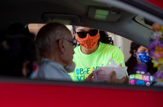 Many seniors over 60 have stayed in their homes since the coronavirus pandemic began to spread across Texas. In Corpus Christi, they can reserve meals at the Greenwood Senior Center from the city This food delivery took place on Monday, April 27, 2020.
