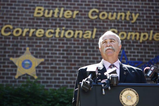 Butler County Sheriff Richard K. Jones speaks to the media in this 2009 Enquirer file photo.