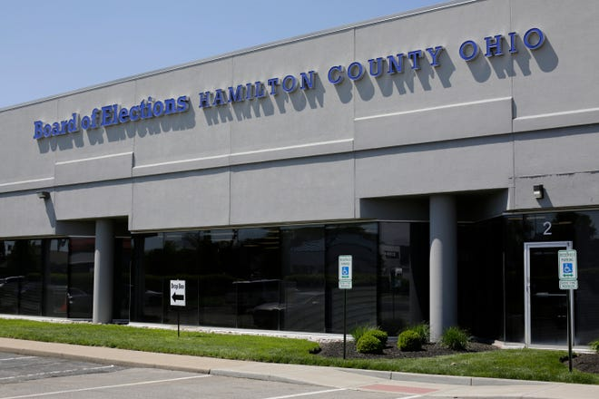 The Hamilton County Board of Elections in Norwood, Ohio, on Monday, April 27, 2020.