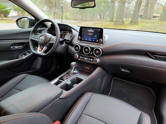 That's a $25,000 car? The interior of the 2020 Nissan Sentra would be at home in a luxury car.