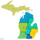 Gov. Gretchen Whitmer's Michigan Economic Recovery Council detailed these potential regions for making decisions on reopening the state's economy on Monday, April 27, 2020.