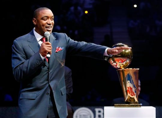 Isiah Thomas led the Pistons to back-to-back NBA titles in 1989 and 1990.