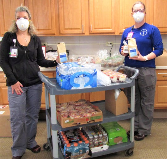 Christ's Corner  Cafe delivered breakfast items for 100 residents and health care workers at Luther Home of Mercy in Williston through their grant.
