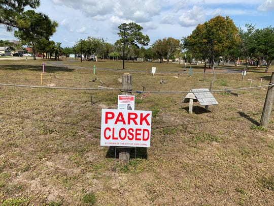 Saratoga Lake Park is among facilities in Cape Coral that have been partially reopened after being closed as the coronavirus reached what public health officials hope has reached its peak  in infecting people in Southwest Florida.  The Cape City Council voted Monday night to open the parks  for biking, walking and launching kayaks at parks with launch facilities.