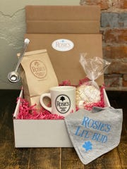 Rosie's Place in Noblesville and Zionsville are offering a variety of Mother's Day options for brunch to go like this morning coffee kit and baby bib add-on.