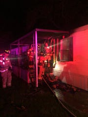 The Iowa City Fire Department contains a structure fire at 2801 Highway 6 East on April 26, 2020, in Iowa City.