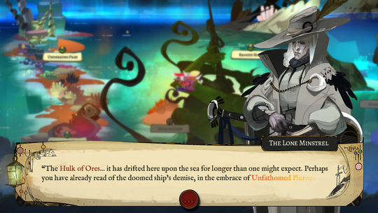 """A screen shot from """"Pyre,"""" developed by Supergiant Games."""