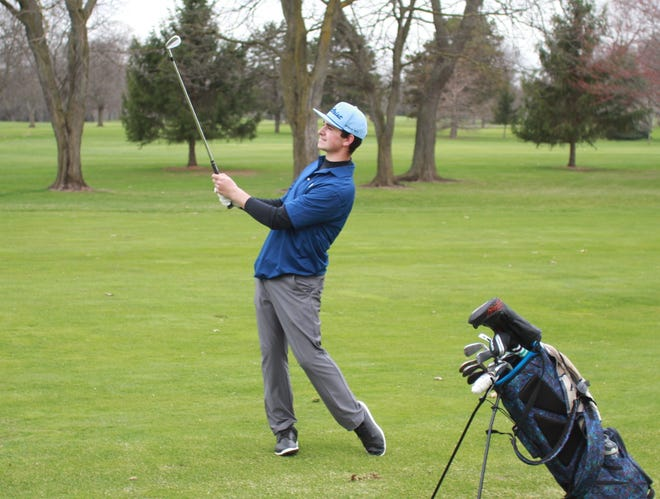 Hartland's Bryce Brief tied for sixth in the 2019 state Division 1 golf tournament.