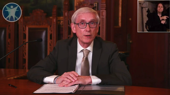 Governor Tony Evers and DHS secretary Andrea Palm talk about Badger Bounce Back and give an update to Wisconsin's Covid-19 response. April 27, 2020.