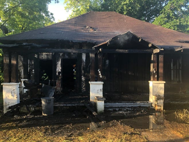 A duplex on McQueen Street suffered heavy damage during an early morning fire.