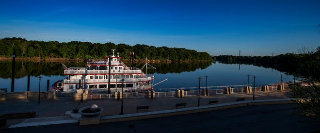 The Harriott II Riverfront Park in Montgomery, Ala., on Monday April 27, 2020.