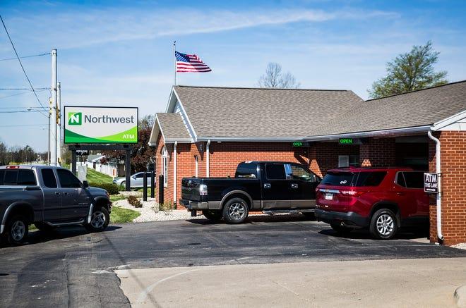 Northwest Bank on McGalliard Road Monday April 27, 2020.