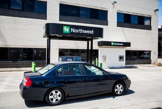 Northwest Bank in downtown Muncie Monday, April 27, 2020.