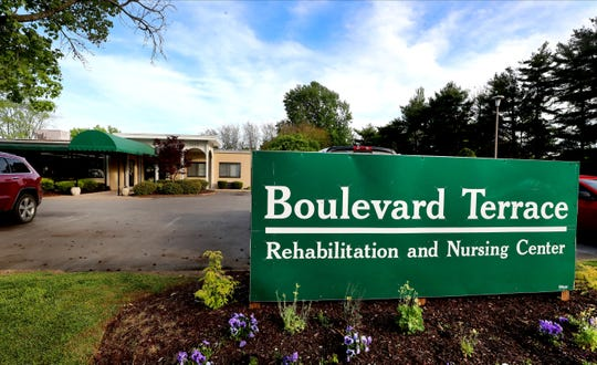 Boulevard Terrace Rehabilitation and Nursing Center in Murfreesboro, on Monday, April 27, 2020. The Murfreesboro nursing home reports 33 COVID-19 cases, one death as of Saturday April 25th.