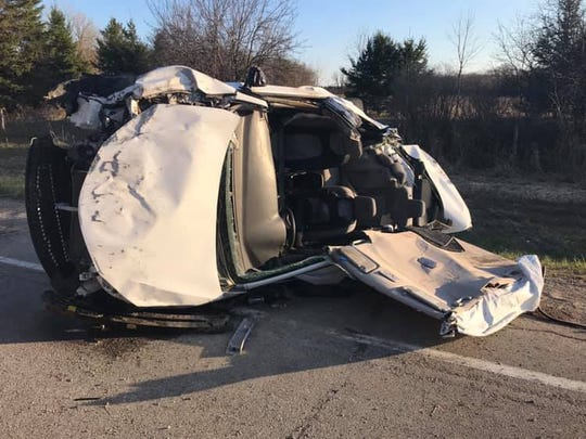 The Wisconsin State Patrol is investigating a single-vehicle crash after the driver fled the scene.