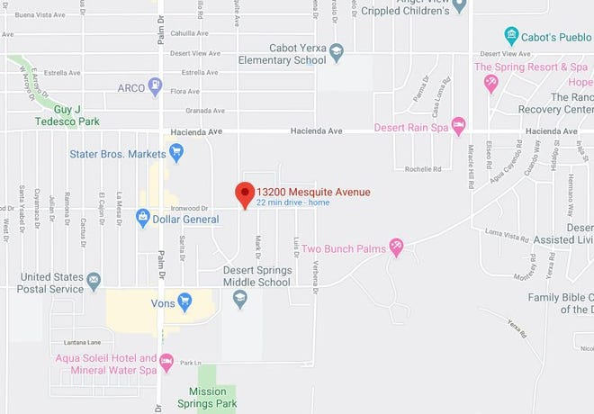 An apartment complex fire in Desert Hot Springs displaced four adults and three minors Sunday, April 26, 2020. The blaze was reported at 1:53 p.m. in the 13200 block of Mesquite Ave.