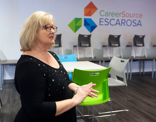 CareerSource Escarosa CEO Sheryl Rehberg offers some insight into common issues people have using Florida's unemployment webs site during an interview on Monday, April 27, 2020. Since the COVID-19 shut down, a record number of Floridians have filed for unemployment benefits and thus straining the system's ability to keep up.