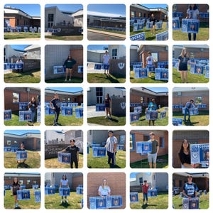 Madison Highland Prep seniors were gifted personalized yard signs to celebrate their upcoming graduation.