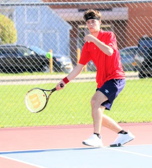 Jacob Tullo of the Roy C. Ketcham High School tennis team